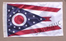 SSP Flags STATE of OHIO Golf Cart Flag with SSP Flags Bracket and Pole
