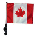 SSP Flags CANADA Golf Cart Flag with SSP Flags Bracket and Pole