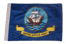 Navy 11in x15 Replacement Flag for Motorcycle, Golf Cart and Car flag poles