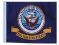 Retired Navy 11in x15 Replacement Flag for Motorcycle, Golf Cart and Car flag poles