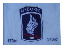 173rd Airborne 11in x15 Replacement Flag for Motorcycle, Golf Cart and Car flag poles