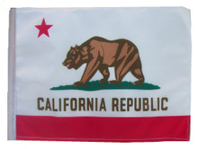 CALIFORNIA 11in x15 Replacement Flag for Motorcycle, Golf Cart and Car flag poles