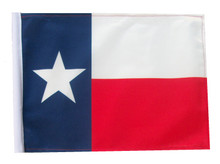 TEXAS 11in x15 Replacement Flag for Motorcycle, Golf Cart and Car flag poles