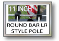 11 in. ROUND Small Luggage Rack Flag Pole Motorcycle Flag Pole