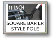 11 in. SQUARE Small Luggage Rack Flag Pole Motorcycle Flag Pole