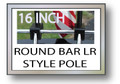 16 in. ROUND BAR LUGGAGE RACK FLAG POLE Motorcycle Flag Pole