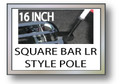 16 in. SQUARE BAR LUGGAGE RACK FLAG POLE  Motorcycle Flag Pole