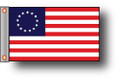 BETSY ROSS 11in X 15in Flag with GROMMETS