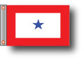 BLUE STAR 11in X 15in Flag with GROMMETS
