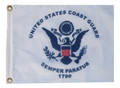 COAST GUARD 11in X 15in Flag with GROMMETS
