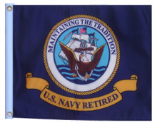 RETIRED NAVY 11in X 15in Flag with GROMMETS