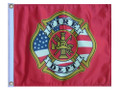 FIRE DEPT 11in X 15in Flag with GROMMETS