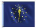 STATE of INDIANA 11in X15in Flag with GROMMETS
