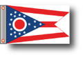 STATE of OHIO 11in X 15in Flag with GROMMETS