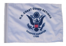 RETIRED COAST GUARD 11in x15 Replacement Flag for Motorcycle, Golf Cart and Car flag poles