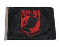 SSP Flags RED POW MIA Motorcycle Flag with Sissybar Pole or Trunk Pole