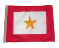 SSP Flags Gold Star Motorcycle Flag with Sissybar Pole or Trunk Pole