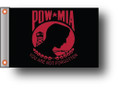 RED POW MIA Small 6in X 9in Flag with GROMMETS