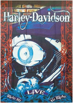 Harley Davidson Flag ENGINE DECORATIVE GARDEN FLAG - Approx. Size 12.5in.x18in.