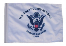 SSP Flags Retired Coast Guard Motorcycle Flag with Sissybar Pole or Trunk Pole