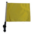 SSP Flags YELLOW Golf Cart Flag with SSP Flags Bracket and Pole