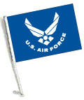 LICENSED U.S. AIR FORCE CAR FLAG