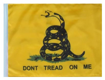 DON'T TREAD ON ME Motorcycle Flag with Sissybar or Trunk Style Pole