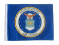 SSP Flags LICENSED US AIR FORCE COAT OF ARMS Motorcycle Flag with Sissybar Pole or Trunk Pole