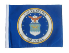 LICENSED AIR FORCE COAT OF ARMS 11in x15 Replacement Flag for Motorcycle, Golf Cart and Car flag poles