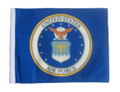 LICENSED AIR FORCE COAT OF ARMS 6 in. x 9 in. SMALL Flag