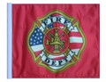 SSP Flags FIRE DEPARTMENT Motorcycle Flag with Sissybar Pole or Trunk Pole