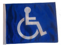 HANDICAP 11in x15 Replacement Flag for Motorcycle, Golf Cart and Car flag poles