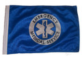 SSP Flags EMS Motorcycle Flag with Sissybar Pole or Trunk Pole