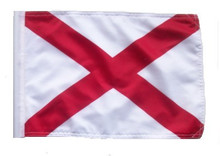 SSP Flags State of ALABAMA Motorcycle Flag with Sissybar Pole or Trunk Pole