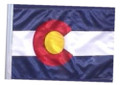 SSP Flags State of Colorado Motorcycle Flag with Sissybar Pole or Trunk Pole