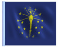 SSP Flags State of Indiana Motorcycle Flag with Sissybar Pole or Trunk Pole