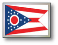 SSP Flags STATE of OHIO Motorcycle Flag with Sissybar Pole or Trunk Pole