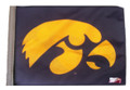 IOWA HAWKEYES Flag with 11in.x15in. Flag Variety