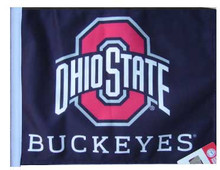 OHIO STATE BUCKEYES Flag (BLACK BACKGROUND) 11in.x15in.