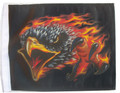 FLAMING EAGLE BLACK 11x15 Flag