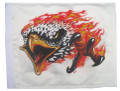 FLAMING EAGLE White 11x15 Flag