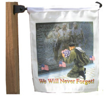 WE WILL NEVER FORGET - GARDEN/MAILBOX FLAG