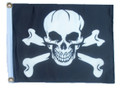 PIRATE SKULL & CROSS BONES 11in X 15in Flag with GROMMETS