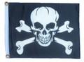 PIRATE SKULL & CROSS BONES 11in X 15in Flag with GROMMETS