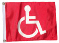 RED HANDICAP 11in X 15in Flag with GROMMETS