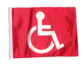 RED HANDICAP 11in x15 Replacement Flag for Motorcycle, Golf Cart and Car flag poles