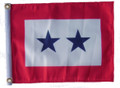 TWO BLUE STAR 11in X 15in Flag with GROMMETS