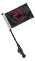 RED POW MIA Small 6x9 Golf Cart Flag with SSP EZ Pole