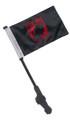 RED POW MIA Small 6x9 Golf Cart Flag with SSP EZ Pole