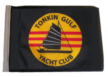 TONKIN GULF YACHT CLUB 11in x15 Replacement Flag for Motorcycle, Golf Cart and Car flag poles